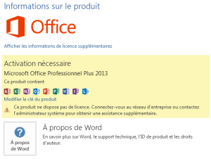 Activation office 2013 une exp rience amusante calipia le blog - Cle activation office pro 2010 ...