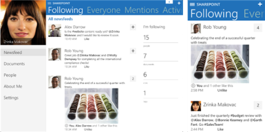 sharepoint newsfeed sur ipad