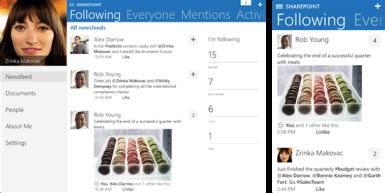 sharepoint newsfeed sur ipad