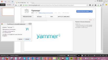 extension yammer pour chrome 1
