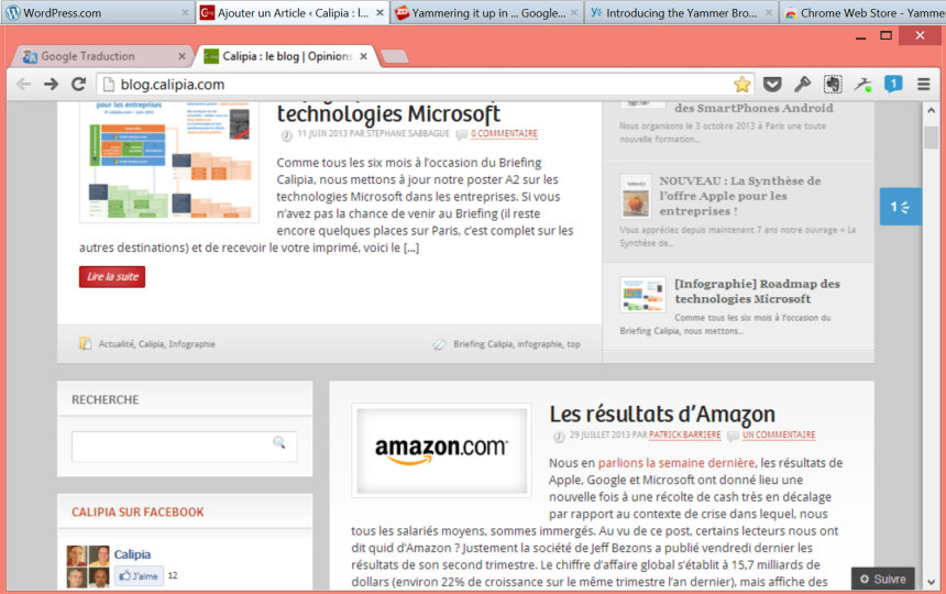 yammer pour chrome 3