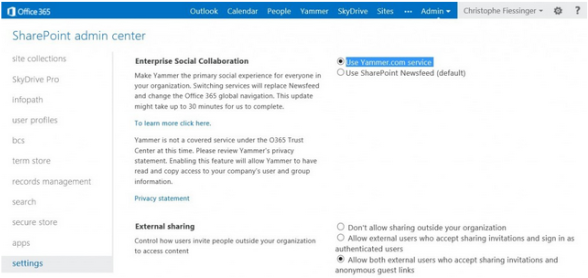 yammer login office 365