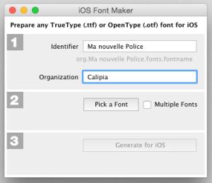 iOS Font Maker