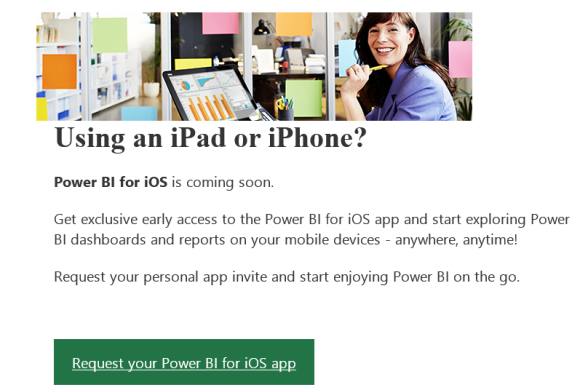 Power BI iOS