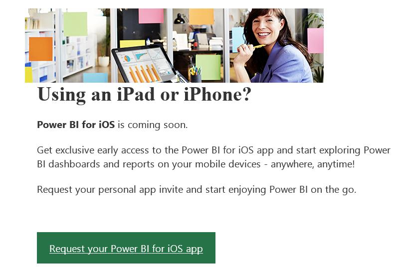 Power BI iOS