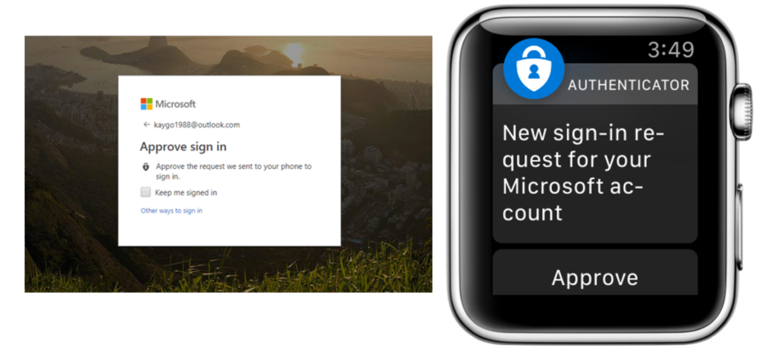 authenticator sur apple watch