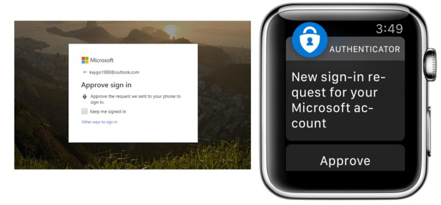 authenticator sur apple watch