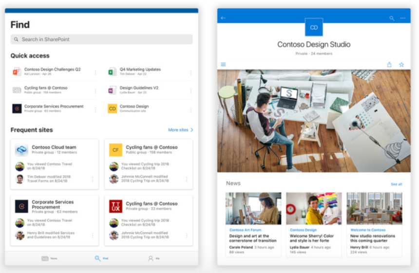 Sharepoint ios Android