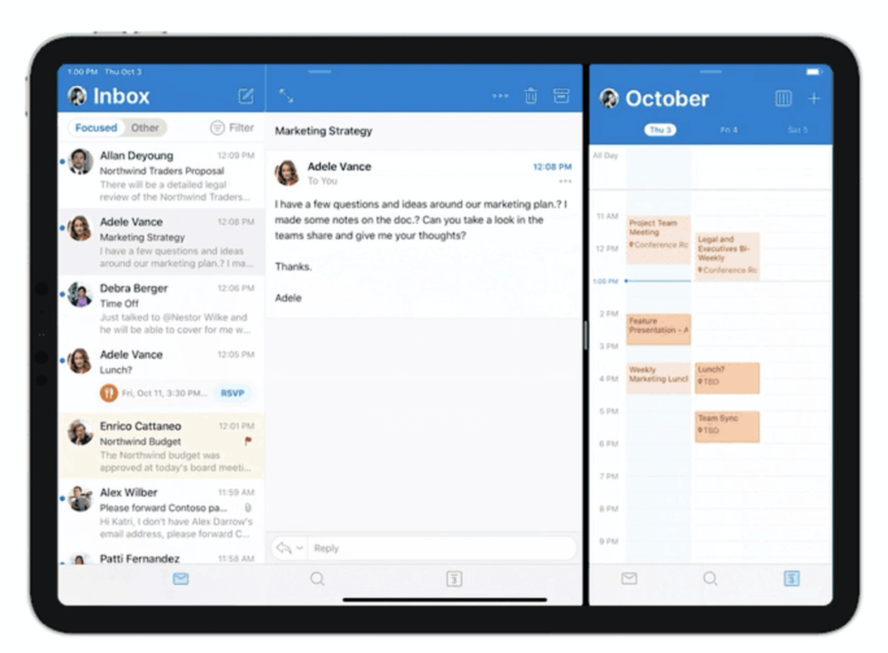 ipad outlook