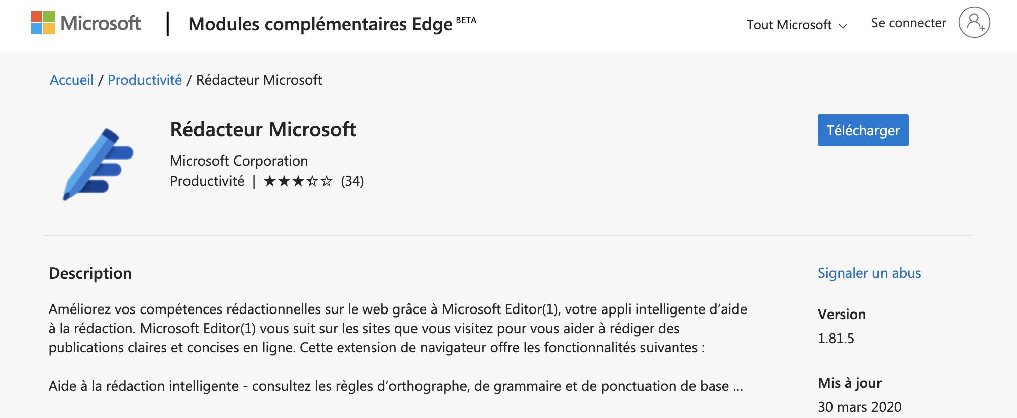 Rédacteur Microsoft